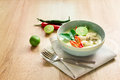 Spicy Creamy Coconut Soup With Chicken , Thai Food Called Tom Kh Stock Images - 55805274