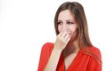 Holding Her Nose Stock Images - 55819634