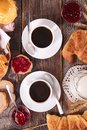Coffee Cup And Croissant Royalty Free Stock Photography - 55820337