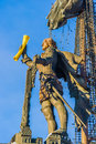 Naval Monument To Peter The Great In Winter Stock Photos - 55826983