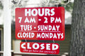 Opening Times Of A Business With Hours And Days Royalty Free Stock Image - 55843056