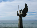 Angel Of Hope And Messenger Of Peace In Puerto Vallarta, Mexico Stock Image - 55853681