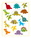 Cartoon Dino - Matching Game Stock Photo - 55854800