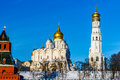 Archangel Cathedral And Ivan The Great Belfry Of Moscow Kremlin Stock Image - 55860831