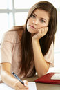 Teenage Girl In Class Royalty Free Stock Photography - 55892737