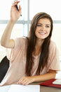 Teenage Girl In Class Royalty Free Stock Image - 55892836