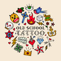 Old School Tattoo Royalty Free Stock Photography - 55897697