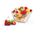 Glass Bowl With Fresh Fruits Salad Royalty Free Stock Photo - 55898885