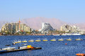 Gulf Of Eilat, Luxurious Hotels In Popular Resort - Eilat Royalty Free Stock Photography - 55912187