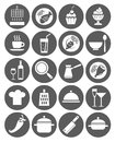 Icons Kitchen, Restaurant, Cafe, Food, Drinks, Utensils, Monochrome, Flat. Stock Images - 55913274