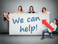 We Can Help Word Stock Image - 55916341