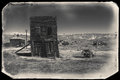 Very Old Sepia Vintage Photo With Abandoned Western Building In The Middle Of A Desert Royalty Free Stock Photography - 55923827