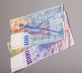 Swiss 1000 And 100 Franc Notes Royalty Free Stock Photo - 55941145