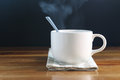 Coffee Cup With Smoke Stock Photos - 55948843