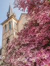 Historic Church In Spring Royalty Free Stock Photo - 55957145