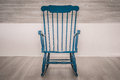Rocking Chair On Wooden Floor Stock Image - 55970511