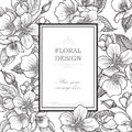 Floral Background. Flower Bouquet Vintage Cover. Flourish Card W Royalty Free Stock Photography - 55976067