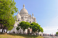 Front View Of Sacre Coeur Cathedral Royalty Free Stock Photo - 55980085