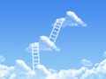 Cloud Stair, The Way To Success Royalty Free Stock Image - 55987146
