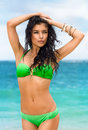 Young Fashion Pretty Sexy Woman On The Beach Royalty Free Stock Photo - 55995525