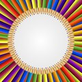 Abstract Frame Of Colored Pencils Background. Stock Photography - 55997202