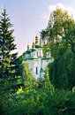 Church And The Green Trees. Stock Photos - 5609313