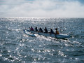 Outrigger Team Go Out To Practice, Morning In Santa Cruz Stock Photography - 56010192