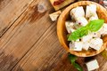 Cubes Of Feta Cheese With Olives Royalty Free Stock Image - 56010806
