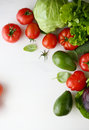 Fresh Vegetables On A White Background Royalty Free Stock Photography - 56051677