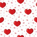 Cute Background With Love And Hearts For Valentine S Day, Seamless Pattern Royalty Free Stock Photos - 56052708