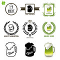 Beer Set Of Vintage Labels, Icons And Logos With Glasses Of Beer Royalty Free Stock Image - 56055536