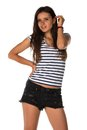 Striped Tee Stock Image - 56062011