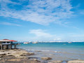 Landscape Of Natural  And Sky.  Background Is Pattaya City Royalty Free Stock Images - 56064399