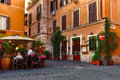 Old Street In Trastevere In Rome Royalty Free Stock Photos - 56065088