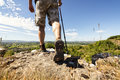 Hiking On A Mountain Trail Royalty Free Stock Images - 56066399