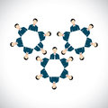 Concept Of Office Employees As Cogwheels Or Gear Wheels - Flat V Royalty Free Stock Photo - 56067905