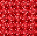 Seamless Abstract Pattern With Squares In Red Color. Vector Geometrical Background. Royalty Free Stock Photo - 56076685