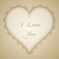 Vintage Lace Heart Frame Royalty Free Stock Photography - 56088197
