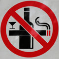 Sign Of No Smoking And No Drink Royalty Free Stock Images - 56090189
