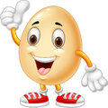 Cartoon Egg Giving Thumb Up Stock Images - 56101264