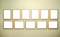 Empty Picture Frames On Gallery Wall Stock Images - 56101294