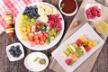 Assorted Fruits And Dip Royalty Free Stock Photos - 56106488