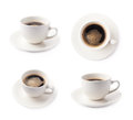 Fresh Cup Of Coffee On A Plate, Isolated Royalty Free Stock Image - 56109316