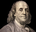 Portrait Of  U.S. President Benjamin Franklin Stock Photography - 56112922