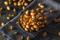 Spicy BBQ Chipotle Pistachios Royalty Free Stock Photography - 56131217