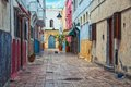 Streets Of Old Town Rabat Medina, Morocco Royalty Free Stock Photos - 56132188