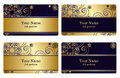 Gold Business Cards Stock Image - 56137341