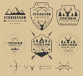 Set Of Vintage Hunting Logos, Labels, Badges And Elements Royalty Free Stock Image - 56149306