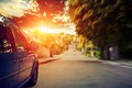 Blurred Road And Car Royalty Free Stock Photo - 56167745