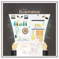 Business Graph Black  Investment Map Usa Money Report Vector Royalty Free Stock Photography - 56179067